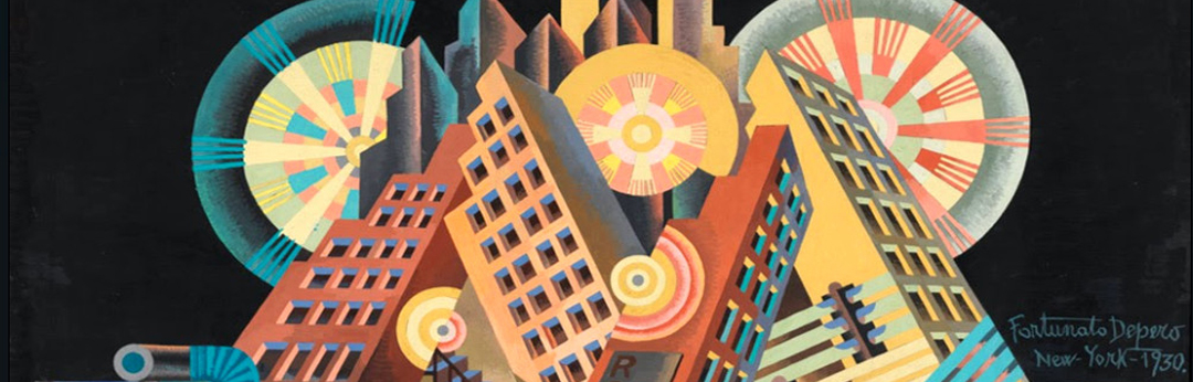 "Fortunato Depero (1892-1960), ""New York 1930."""